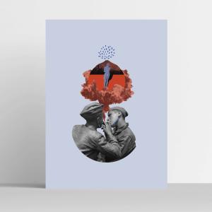 NA FAJKĘ plakat kolaż